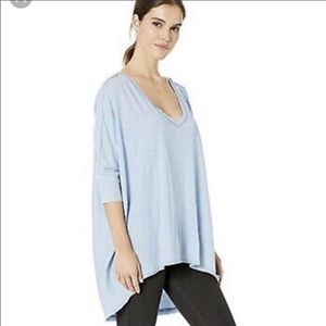 Free People Catch Waves Dreamy Clouds Tee NWT